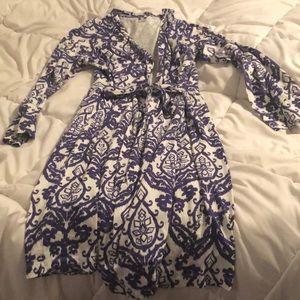 Long sleeve maternity robe